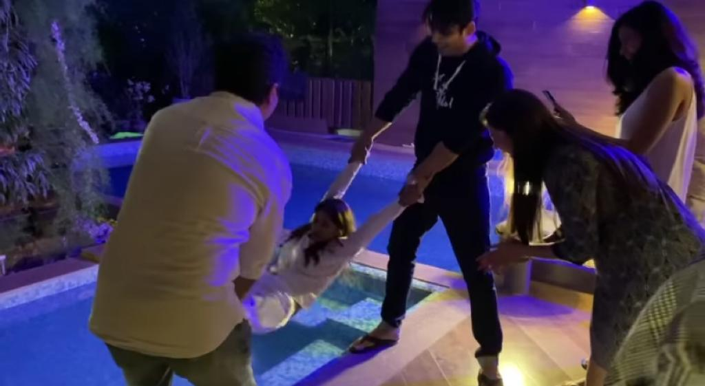 Sidharth Shukla throws Shehnaaz Gill in swimming pool; watch videos from her 27th birthday bash